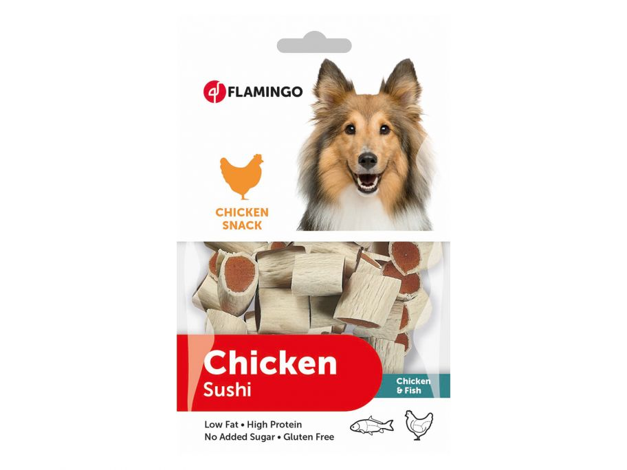 Flamingo Chicken Sushi hondensnack
