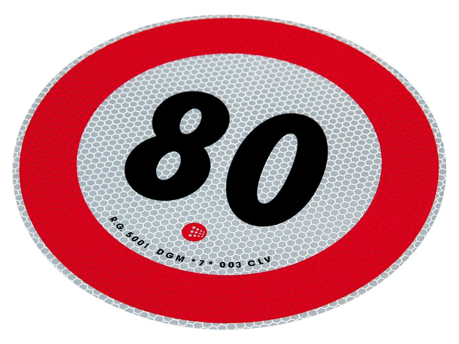 80 km/h markeringsticker