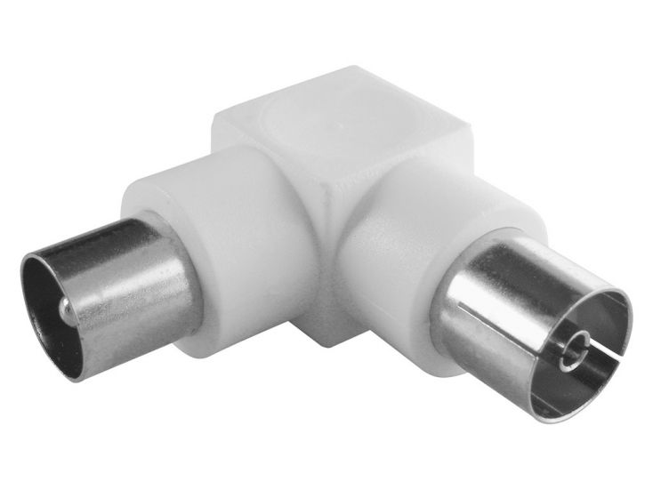 Schwaiger coax haaks male - female adapter