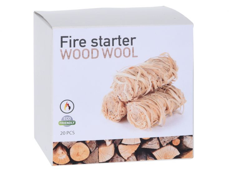 Barbecue woodwool firestarter